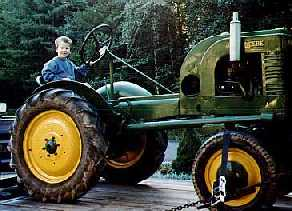 Nathan on the tractor
